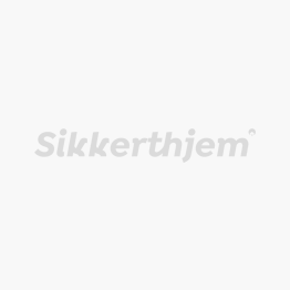 Præventivt alarmskilt i vejrresistent plastik - SikkertHjem™