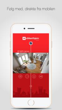 SikkertHjem™ S5-Touch App - Følg med direkte fra mobilen